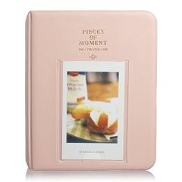 TOOGOO(R) 64 Taschen Minialbum-Kasten-Speicher fuer Polaroid Foto Fushifilm Instax Film Groesse - Rosa - 1