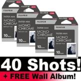 Fujifilm Instax Monochrome Film Bundle Pack (40Aufnahmen) + Gratis Wand Album. -