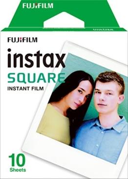 Instax quadratisch SQ10Film–Weiß (10Stück) -