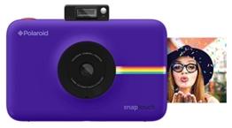 Polaroid-Schnappschuss-Sofortdruck-Digitalkamera mit LCD-Display (lila) mit Zink Zero Ink Drucktechnologie -