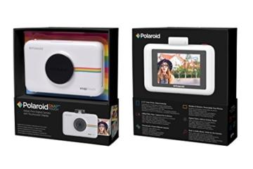 Polaroid-Schnappschuss-Sofortdruck-Digitalkamera mit LCD-Display (Weiß) mit Zink Zero Ink Drucktechnologie -