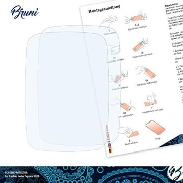 Bruni Fujifilm Instax Square SQ10 Folie - 2 x glasklare Displayschutzfolie Schutzfolie -