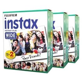 Fuji Fujifilm Instax Wide Instant Photo 60 Film for Instax Wide 210 200 100 300 Camera -
