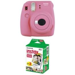 Fujifilm Instax Mini 9 Kamera flamingo rosa mit Film -