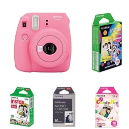Fujifilm Instax Mini 9 Kamera flamingo rosa mit Film Box -