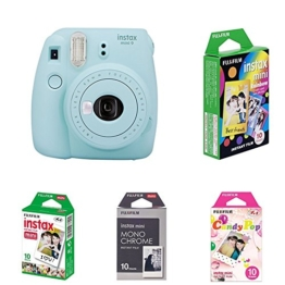 Fujifilm Instax Mini 9 Kamera ice blau mit Film Box -