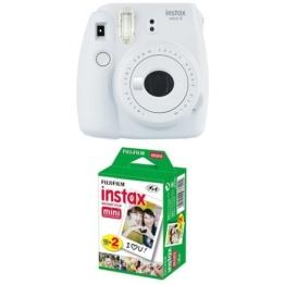 Fujifilm Instax Mini 9 Kamera smoky weiß mit Film -