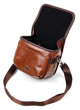 Stilvolle Transport-Tasche für Ihre Fujifilm Instax Square SQ10, X-T20, X100F, XP120 Kamera in Braun (Kunstleder-Material) -