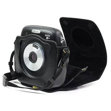 paracity Retro PU Leder Kamera Schutzhülle für Fujifilm Instax Square SQ10Hybrid sofort mit verstellbarem Schulterriemen - 2