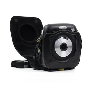 paracity Retro PU Leder Kamera Schutzhülle für Fujifilm Instax Square SQ10Hybrid sofort mit verstellbarem Schulterriemen - 4