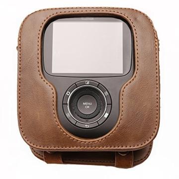 Tasche für Fujifilm Instax SQUARE SQ 10 Hybride Sofortbildkamera, Kameratasche PU-Leder klassische Retro-Schutzhülle mit verstellbarem Schultergurt von Hellohelio-Braun - 3
