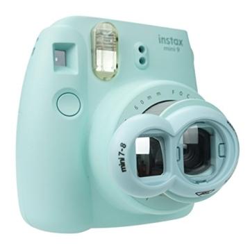 Anter Close Up Objektiv mit Instax Selfie Objektiv für Fujifilm Instax Mini 9 Mini 8 Mini 8+ Mini 7s Instant Film Kamera - Acht Blau - 2