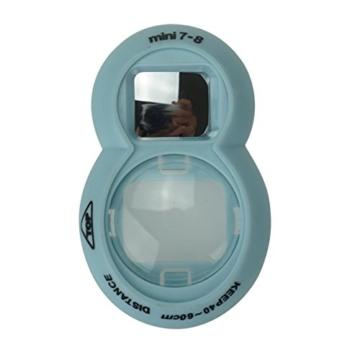 Anter Close Up Objektiv mit Instax Selfie Objektiv für Fujifilm Instax Mini 9 Mini 8 Mini 8+ Mini 7s Instant Film Kamera - Acht Blau - 3