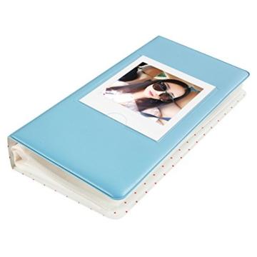 CAIUL Mini Foto Album Für Fujifilm Instax Square SQ10 Film (64 Fotos,Blau) - 4