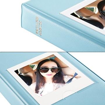 CAIUL Mini Foto Album Für Fujifilm Instax Square SQ10 Film (64 Fotos,Blau) - 5