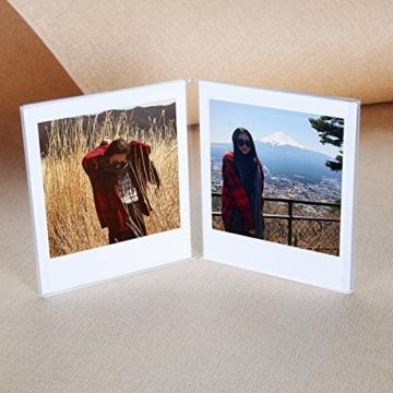 CAIUL V Modell Clear Acryl Fotorahmen für Fujifilm Instax Square SQ10 Instant Film, 3 Stück - 2