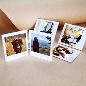 CAIUL V Modell Clear Acryl Fotorahmen für Fujifilm Instax Square SQ10 Instant Film, 3 Stück - 3