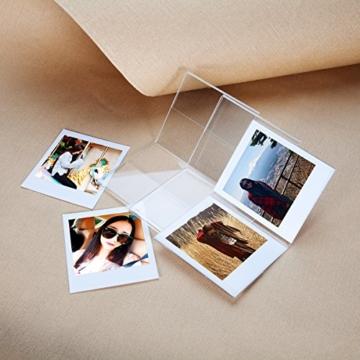 CAIUL V Modell Clear Acryl Fotorahmen für Fujifilm Instax Square SQ10 Instant Film, 3 Stück - 4