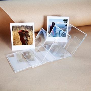 CAIUL V Modell Clear Acryl Fotorahmen für Fujifilm Instax Square SQ10 Instant Film, 3 Stück - 5