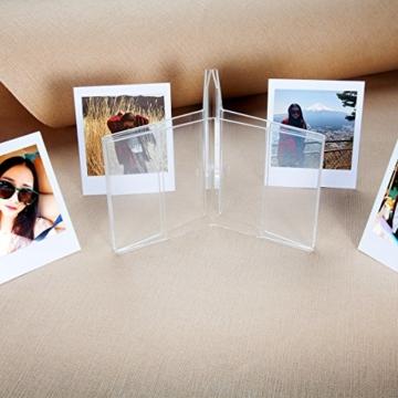 CAIUL V Modell Clear Acryl Fotorahmen für Fujifilm Instax Square SQ10 Instant Film, 3 Stück - 6