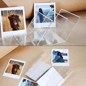 CAIUL V Modell Clear Acryl Fotorahmen für Fujifilm Instax Square SQ10 Instant Film, 3 Stück - 7