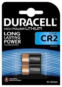 Duracell High Power Lithium CR2 Batterie 3V, 2er-Packung (CR15H270) entwickelt für die Verwendung in Sensoren, schlüssellosen Schlössern, Blitzlicht und Taschenlampen. - 1