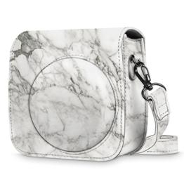 Fintie Tasche für Fujifilm Instax Mini 8/Mini 9 Sofortbildkamera - Premium Kunstleder Schutzhülle Reise Kameratasche Hülle Abdeckung mit Abnehmbaren Riemen, Marmor Muster - 1