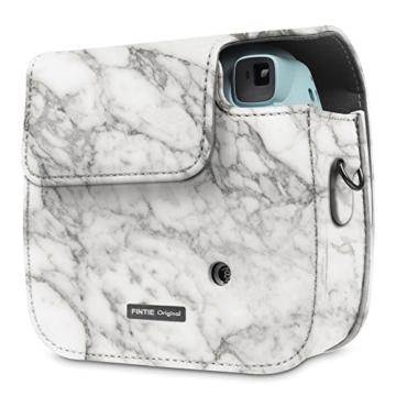 Fintie Tasche für Fujifilm Instax Mini 8/Mini 9 Sofortbildkamera - Premium Kunstleder Schutzhülle Reise Kameratasche Hülle Abdeckung mit Abnehmbaren Riemen, Marmor Muster - 7