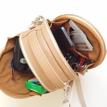 [Fujifilm Instax Mini Universal Tasche] - CAIUL Umfassenden Schutz Kameratasche mit Weichem PU Leder Material für Instax Mini 8 8+ 9 70 7s 25 26 50s 90 Kamera, Smartphone SP-1 Drucker (Beige) - 3