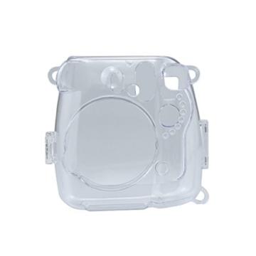 Goocor Kristall Kameratasche mit Verstellbarem Regenbogen Schultergurt und Objektivtuch für Fujifilm Instax Mini 9 / Mini 8 / Mini 8+ Instant Kamera - Transparent - 3