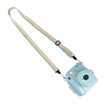 Goocor Kristall Kameratasche mit Verstellbarem Regenbogen Schultergurt und Objektivtuch für Fujifilm Instax Mini 9 / Mini 8 / Mini 8+ Instant Kamera - Transparent - 7
