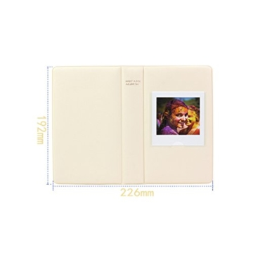 jxe 64Taschen Fotoalbum Book für Fujifilm Instax Square SQ10Sofortbildkamera Filme - 2