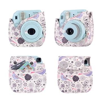 Kaka 13 in 1 Instax Mini 9 Kamera Zubehör Bundles für FujiFilm Instax Mini 9 8 8+ Kamera mit Mini 9 Case/Album/Selfie Objektiv/Filter/Wand Hang Frames/Film Rahmen/Border Sticker/Pen (Spaß Birdie) - 2