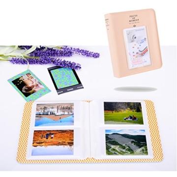 Kaka 13 in 1 Instax Mini 9 Kamera Zubehör Bundles für FujiFilm Instax Mini 9 8 8+ Kamera mit Mini 9 Case/Album/Selfie Objektiv/Filter/Wand Hang Frames/Film Rahmen/Border Sticker/Pen (Spaß Birdie) - 3