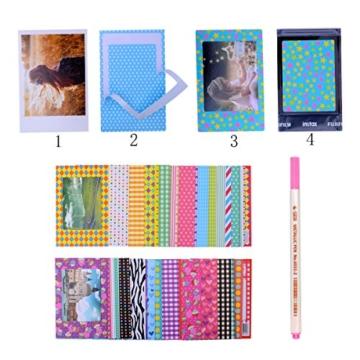 Kaka 13 in 1 Instax Mini 9 Kamera Zubehör Bundles für FujiFilm Instax Mini 9 8 8+ Kamera mit Mini 9 Case/Album/Selfie Objektiv/Filter/Wand Hang Frames/Film Rahmen/Border Sticker/Pen (Spaß Birdie) - 7