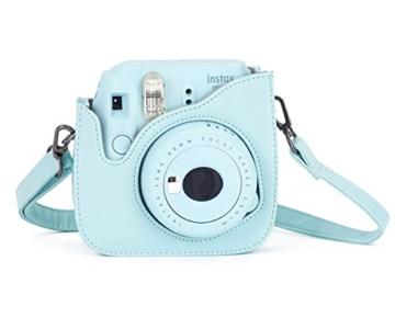 Leebotree Fujifilm Instax Mini 9 Tasche, Schutztasche aus Weichem Kunstleder mit Schulterriemen und Tasche für Fujifilm Instax Mini 8 8+/Mini 9 Sofortbildkamera (Ice Blau) - 4