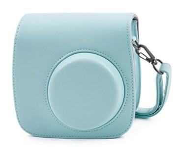 Leebotree Fujifilm Instax Mini 9 Tasche, Schutztasche aus Weichem Kunstleder mit Schulterriemen und Tasche für Fujifilm Instax Mini 8 8+/Mini 9 Sofortbildkamera (Ice Blau) - 1