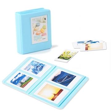 Leebotree Fujifilm Instax Mini 9 Zubehör, 10 in 1 Kamerapaket beinhaltet Kameratasche/Album/Selfielinse/Farbige Filter/Wandfotorahmen/Filmrahmen/Rahmenaufkleber/Eckaufkleber/Markierstift (Ice Blau) - 4