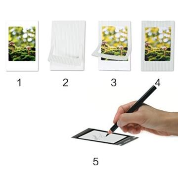 Leebotree Fujifilm Instax Mini 9 Zubehör, 10 in 1 Kamerapaket beinhaltet Kameratasche/Album/Selfielinse/Farbige Filter/Wandfotorahmen/Filmrahmen/Rahmenaufkleber/Eckaufkleber/Markierstift (Ice Blau) - 5