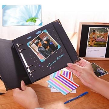 Leebotree Fujifilm Instax Mini 9 Zubehör, 10 in 1 Kamerapaket beinhaltet Kameratasche/Album/Selfielinse/Farbige Filter/Wandfotorahmen/Filmrahmen/Rahmenaufkleber/Eckaufkleber/Markierstift (Ice Blau) - 7