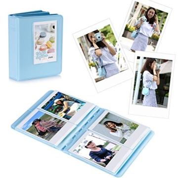 Neewer 10 in 1 Zubehör Kit für Fujifilm Instax Mini 8/8s/8+/9 beinhältet Kamera Tasche/Album/Selfie Lense/4x Farbfilter/5x Film Frames/20x Wand hängen Bilder/40x Border-Aufkleber/2x Corner Aufkleber/Stift - 2