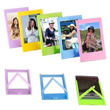 Neewer 10 in 1 Zubehör Kit für Fujifilm Instax Mini 8/8s/8+/9 beinhältet Kamera Tasche/Album/Selfie Lense/4x Farbfilter/5x Film Frames/20x Wand hängen Bilder/40x Border-Aufkleber/2x Corner Aufkleber/Stift - 3