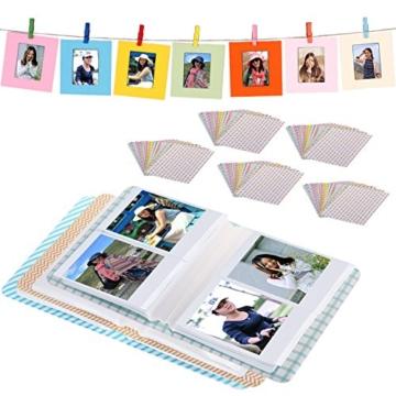 Neewer 23-in-1 Aufkleber und Rahmen Zubehör-Set für Fujifilm Mini Instax 7 7s 70 8 8+/9 25 90 und 50s, Inklusive: Fotoalben, Aufkleberpapiere, Filmtafelrahmen und Hängesysteme - 3