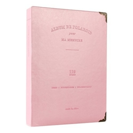 SAIKA 120 Taschen PU Leder Binder Spule Fotoalbum für 3-Zoll Fujifilm Instax Filme, Fuji Mini 8 8+ Mini 9 70 90 25 50s 7s Fotobuch Ticket Album Gästebuch (Pink) - 1