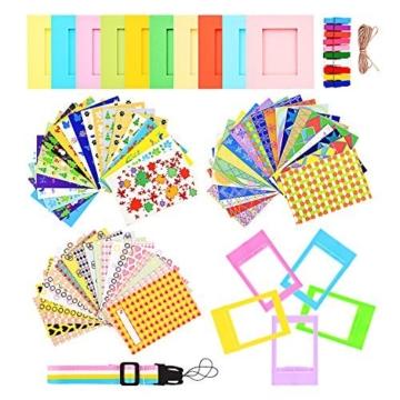 sunmns Colorful Bundle Set Zubehör für Fujifilm Instax Mini 9/8/90/70auch Kamera, Zubehör, Film Aufkleber, Schreibtisch Rahmen, aufhängen Rahmen, Band - 1