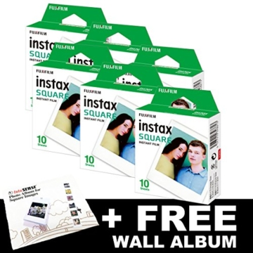 Fujifilm Instax FILM Bundle Pack (60Aufnahmen) + Gratis, quadratisch Album - 1