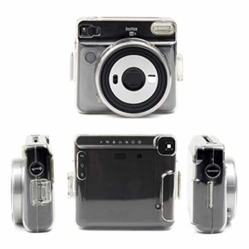 [Instax Square SQ6 Tasche] - CAIUL Kameratasche Schutzhülle mit PVC-Material für Instax SQ 6 Ex D Sofortbildkamera (Transparent) - 2