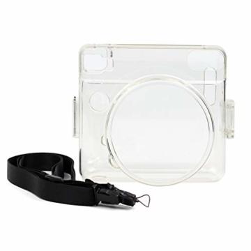 [Instax Square SQ6 Tasche] - CAIUL Kameratasche Schutzhülle mit PVC-Material für Instax SQ 6 Ex D Sofortbildkamera (Transparent) - 3