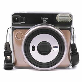 [Instax Square SQ6 Tasche] - CAIUL Kameratasche Schutzhülle mit PVC-Material für Instax SQ 6 Ex D Sofortbildkamera (Transparent) - 1