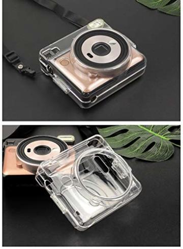 [Instax Square SQ6 Tasche] - CAIUL Kameratasche Schutzhülle mit PVC-Material für Instax SQ 6 Ex D Sofortbildkamera (Transparent) - 4